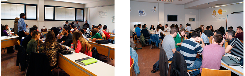 Alumnado del Grado en ADE Digital Business, Grado en Finanzas y Contabilidad y Grado en Turismo