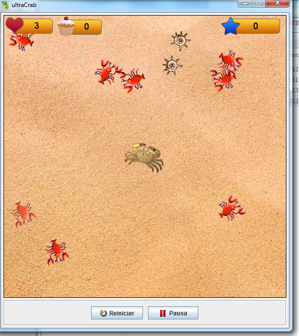 Screen del joc UltraCrab